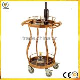 natural wine car yiyongjia luxury wine liquor trolley cart stainless steel meat trolley