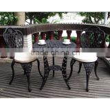 Alibaba China factory Outdoor Furniture General Use and Garden Set Specific Use cast iron garden table and chair