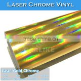 CARLIKE Holographic Rainbow Laser Chrome Gold Wrap Vinyl Sticker