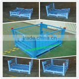 High quality steel Box Pallet (Folding Type)/Collapsible Metal Steel Box Pallet/wire mesh container