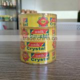 High Quality cutsom Bopp crystal clear color transparent adhesive packaging tape for carton sealing