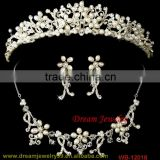 fashion indian pearl necklace set gold jewelry set wedding full rhinestone sets crystal bridal accessories