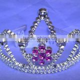 6.5cm high metallic silver party princess plastic tiaras and crowns