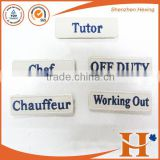 Custom High Quality embroidery number hook and loop fastener patches,embroidered number patches