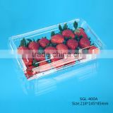 Hot Selling ! 400g Disposable Plastic Strawberry Packing Punnet with Vent Hole wholesale