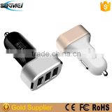 Factory Supply Car Phone Charger,USB Car Charger 3 Port,Car Charger for Portable DVD Player