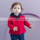 DB1404 davebella 2014 spring/autumn new arrival flour printed baby coat babi outwear baby clothes