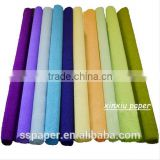 Party Decor 250*50CM Colored Crepe Paper Roll For crafts raw material