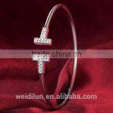 wholesale fashion jewelry 925 sterling silver bracelet bangle wedding gift engagement gift
