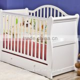 Multifunctional foldable wooden baby crib with wheels                                                                         Quality Choice