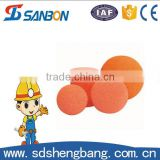 Factory directly sale Dn125 soft/medium/hard concrete pumping spare parts clearn sponge ball