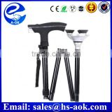 A-OK Folding Elderly Walking Stick and LED Light