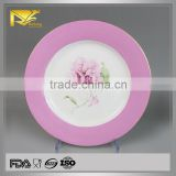 china supplier glazed floral china dinner plates, catering dinner plates, bulk dinner plates