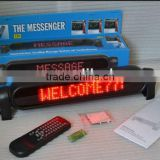 led moving message sign/12v led car message moving scrolling sign display