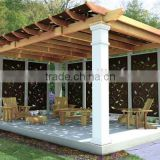 recycled backyard outside hollow composite wood decking wpc decking used gazebo for sale