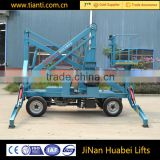 Trade assurance hydraulic walking and collapsible 360 degrees motorized rotating platform for sale