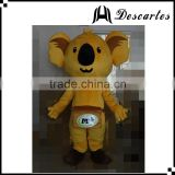 Adult size funny dress Koala bear mascot costume for festivals