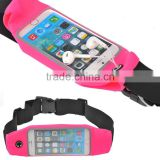 Factory Price Waterproof Sports Jogging Running Gym Waist Belt Case Bag For iphone Samsung