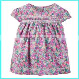 Hot selling Smocked Floral Top,funny baby girl t-shirts baby girl tee shirts