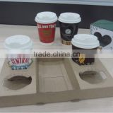Paper cup coffee cup holder/ hot drinking cup carrier