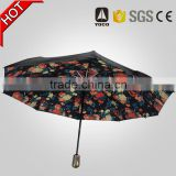 OEM water-resistant canopy with personalized a colorful floral inside full print umbrella