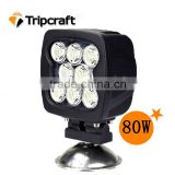 Factory price!!! 5 INCH 80W New LED Off road Driving spot truck lights for FARM MACHINERY