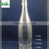 glass bottle for alcohol drink