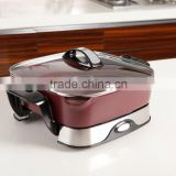 ceramic coating electric pan skillet with boil frying bake multi funcation