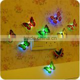 3D wall paper stick on baby night light best decoration bedroom butterfly shape