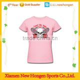 custom fashion badminton jersey polyester /eyelet/pique dry fit fabric,cool girl sports t-shirt