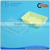 Disposable square plastic airline product deep dish