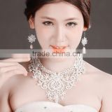 MYLOVE fashion jewelry set pearl lace necklace earring MLT006
