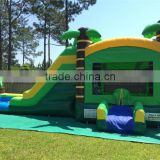 Tropical water slide selling,Inflatable BOUNCING combo for child,Forest Bouncy House with water slide rentals