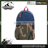 Hot selling of school bag backpack camo hiking laptop student canvas backpack with waterproof