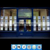 2016 christmas window advertising light magnetic led light sign photo albums 3x4 pockets