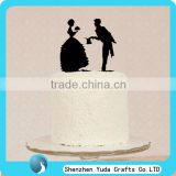 Figure shape acrylic wedding cake toppers for bride and groom,wedding cake topper couple
