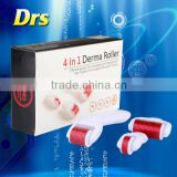 Replaceable China derma roller 4 in micro dermal needle 300/720/1200pins with 3 seperated roller heads