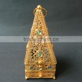 wholesale two colors tower shape beautful incense burner with cryatsl and four angle bottom