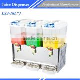 Tea Coffee Milk Dispenser/Automatic Milk Dispenser Commercial Catering Equipment LSJ-18L*3