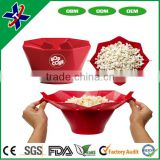 Collapasible Popcorn Maker Cake Tools Type Amazon Hot Sale Silicone Popcorn Popping Bowl