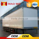 Tri-axle refrigerated power dry cargo carrier box semi trailer
