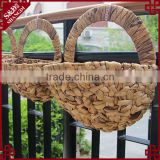 "14"" Wire Wall Hanging Flower Basket Planter half round hanging basket"