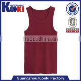 Colorful mens polyester plain racer back tank tops