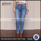 MGOO High Quality Spandex Women Hipster Blue Denim Jeans Fashion Skinny Shinning Muslim Pants