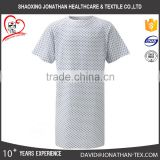 High quality 100 cotton material printing pattern patient gown for hospital unisex use
