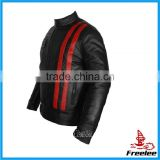 New style mens cafe racer jacket pu leather motorcycle jacket