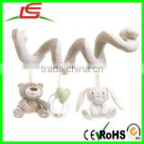 Spiral Activity Rabbit Bear Educational Rattles Toys Round the Baby Bed Hanging toy