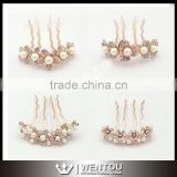 Magic Wedding Flower Crystal Pearls Hair Clip Comb Accessories