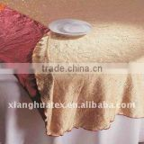 Hotel wrinkle reversible table cloth
