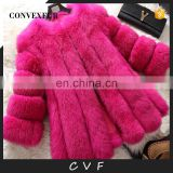 2016 winter fashion women ladies fox fur coat real fur outer wear